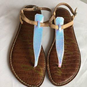 Sam Edelman Gigi metallic sandal Sz 7 very nice